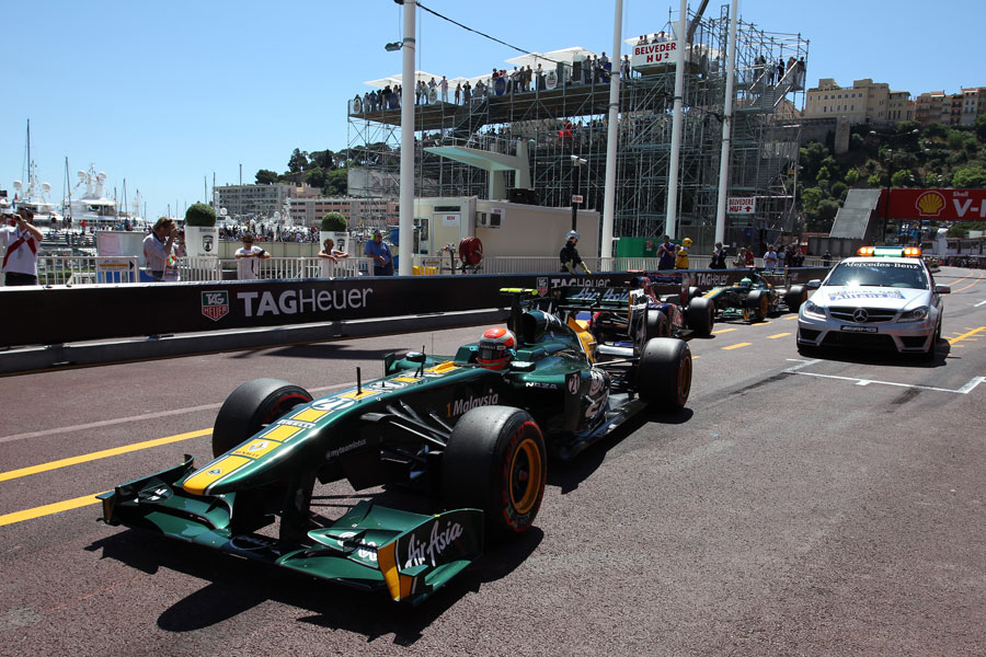 Jarno Trulli leaves the pit lane