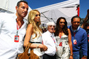 Bernie Ecclestone with his daughters Petra and Tamara