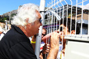 Flavio Briatore keeps his distance