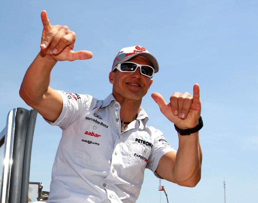 10332 - Haug laughs off Schumacher joke