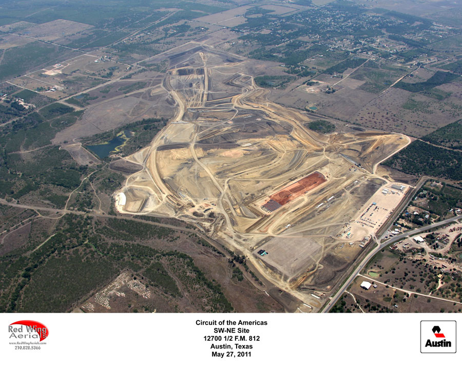The Circuit of the Americas is starting to take shape ahead of the return of the US Grand Prix in 2012