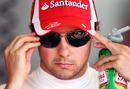 Felipe Massa focuses his mind ahead of practice
