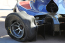 Marcus Ericsson's damaged car after he crashed at the swimming pool chicane