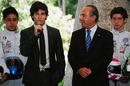 Sergio Perez and Mexican president Felipe Calderon