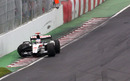 Jenson Button ends his race in the wall of champions