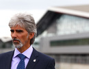 BRDC president Damon Hill at the official opening of the new £27 million pit and paddock complex