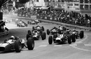 John Surtees leads Jackie Stewart and the rest of the field in to Ste Devote