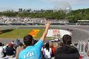 Jenson Button follows Kamui Kobayashi round turn 10