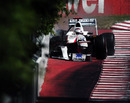 Kamui Kobayashi smashes against the wall at turn four