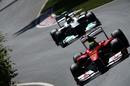 Felipe Massa leads Nico Rosberg
