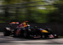 Sebastian Vettel attacks the Circuit Gilles Villeneuve