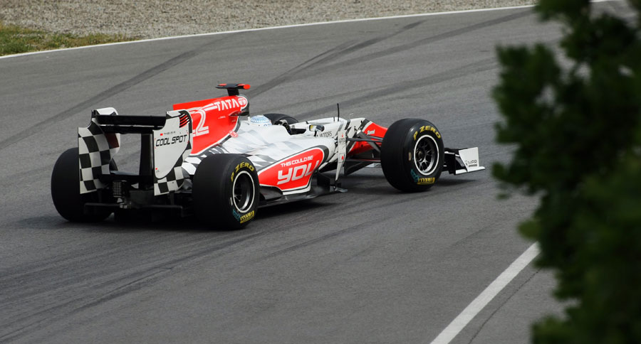Narain Karthikeyan on a run on soft tyres
