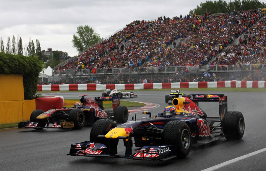 Mark Webber recovers to pass Sebastian Buemi