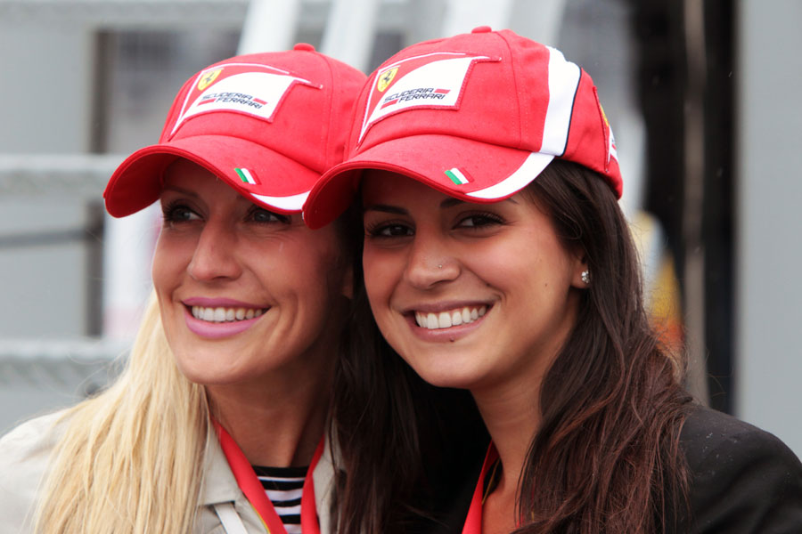 Ferrari fans smile despite the rain