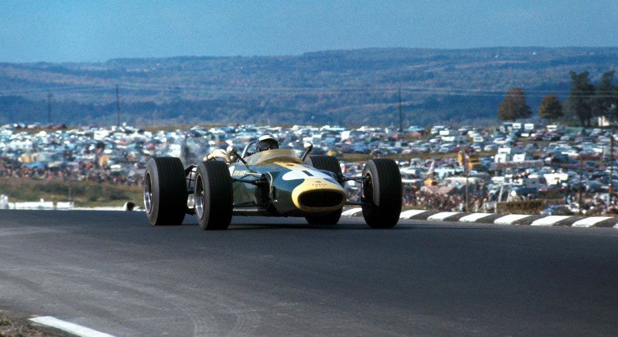 Jim Clark leads in the New York sunshine