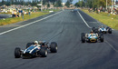 John Surtees leads Jack Brabham and Denny Hulme