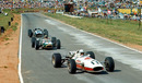 John Surtees leads Jack Brabham and Pedro Rodriguez