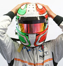 Tonio Liuzzi prepares ahead of the race
