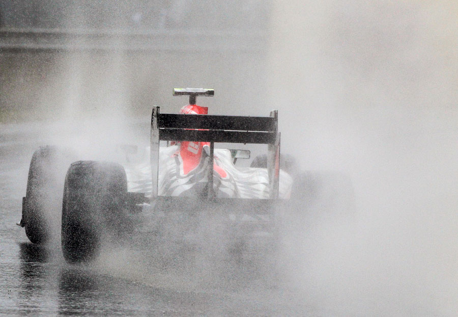 Tonio Liuzzi during the worst of the deluge