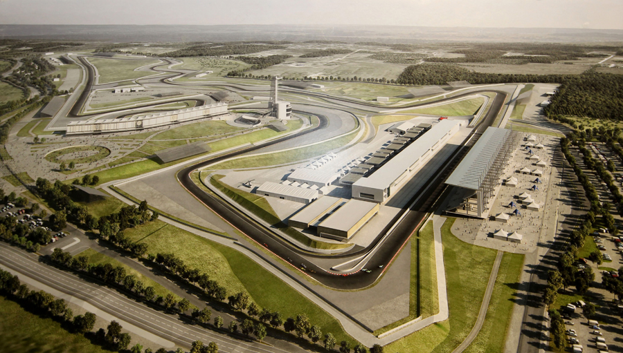 An artists impression of the completed Circuit of the Americas