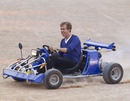 Sebastian Vettel arrives at the television show 'Wetten, dass..?'