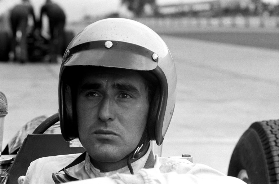 Lorenzo Bandini in the cockpit of his Ferrari 158