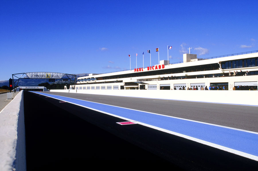 The pit lane and buildings at the Circuit Paul Ricard