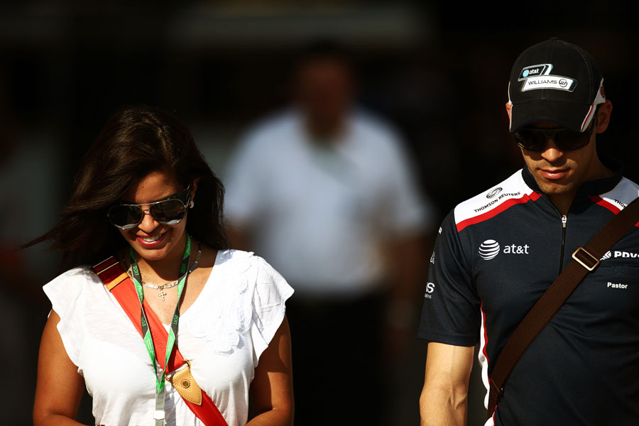 Pastor Maldonado with his girlfriend Gabriella Tarkany