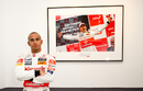 Lewis Hamilton attends the launch of the 'Driven To Do Better' British Grand Prix exhibition