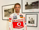 Jenson Button attends the launch of the 'Driven To Do Better' British Grand Prix exhibition