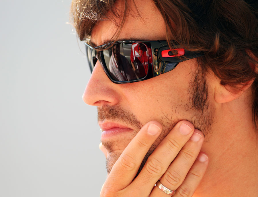 Fernando Alonso ahead of the start of the race
