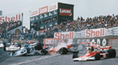 The first-corner pile-up which led to a restart and then months of controversy