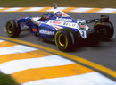 Jacques Villeneuve leaves the pits in his Williams