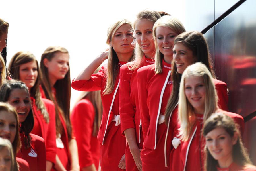 Santander grid girls