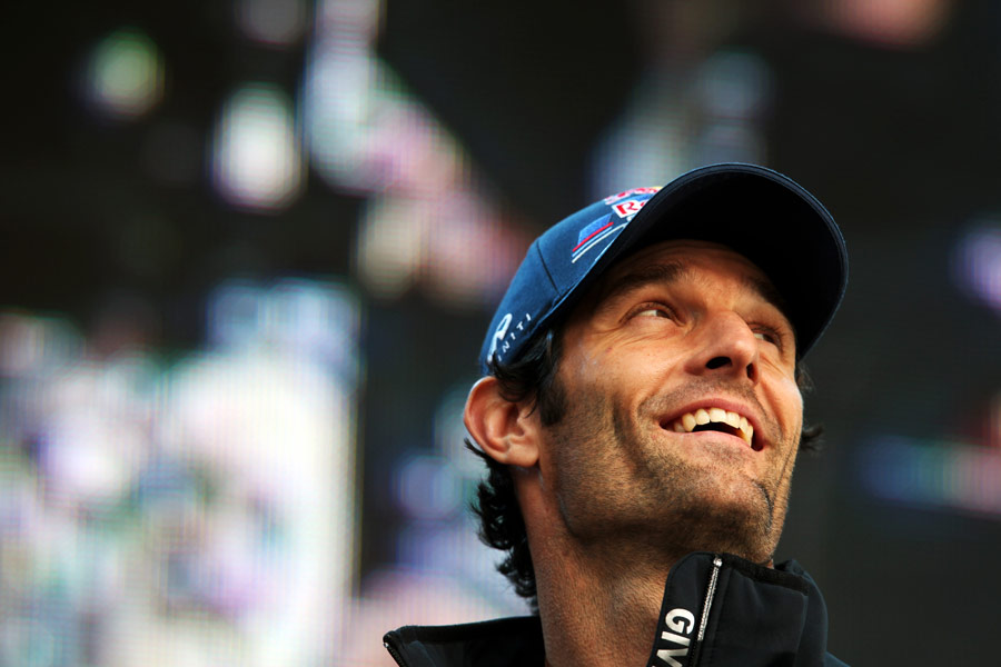 Mark Webber at the Silverstone post-race concert
