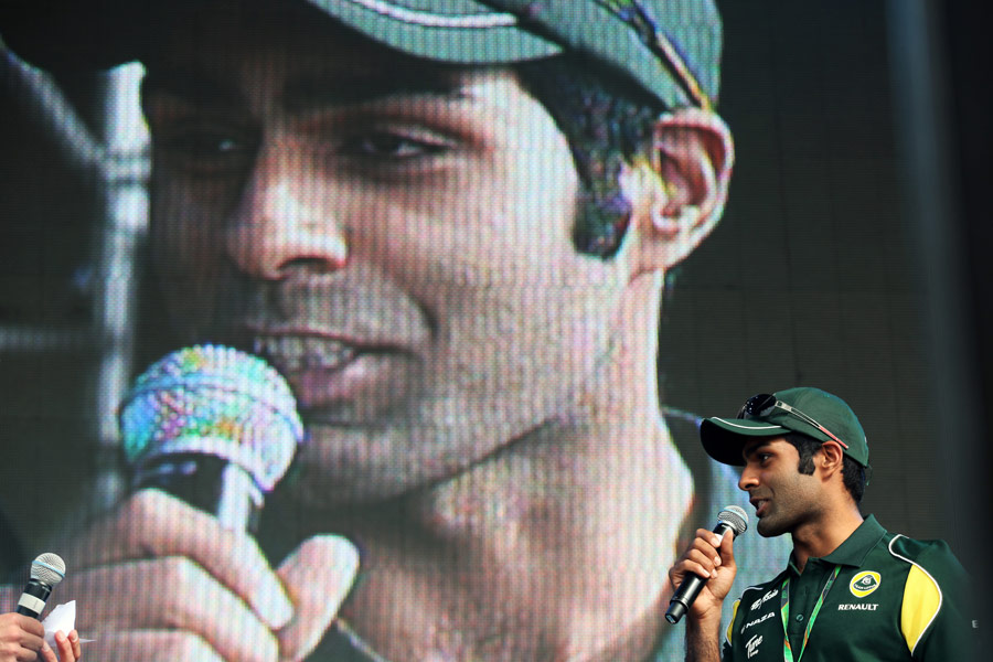 Karun Chandhok at the Silverstone post-race concert