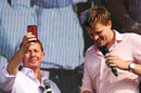 Martin Brundle and Jake Humphrey at the Silverstone post-race concert