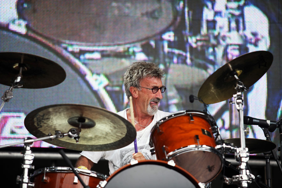 Eddie Jordan at the Silverstone post-race concert