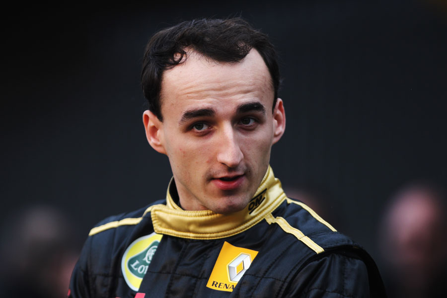 Robert Kubica at the launch of the Renault R31