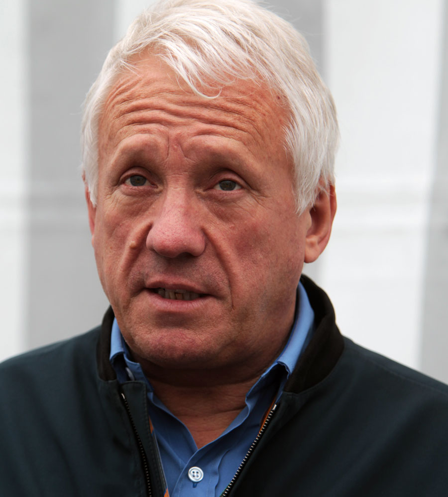 Charlie Whiting in the paddock