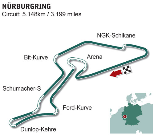 NEW Nurburgring circuit diagram