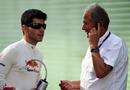 Jaime Alguersuari with Red Bull consultant Dr Helmut Marko