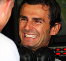 Pedro de la Rosa shares a joke with Martin Whitmarsh