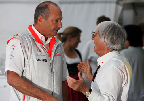Ron Dennis and Bernie Ecclestone at the Belgian Grand Prix