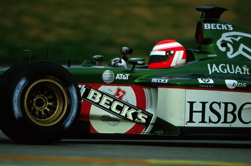 Niki Lauda tested a Jaguar in 2002