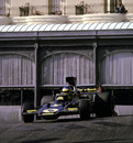 Ronnie Peterson slides his Lotus through Casino Square