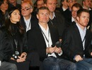 David Coulthard enjoys the Mercedes unveiling