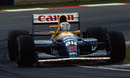 Nigel Mansell on his way to victory at Kyalami