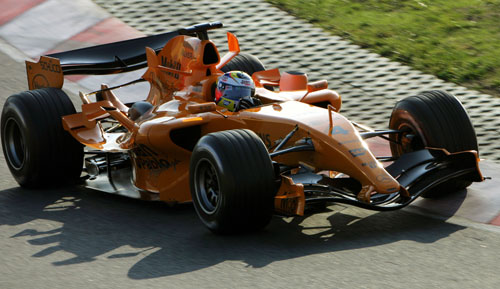 Juan Pablo Montoya test the new McLaren