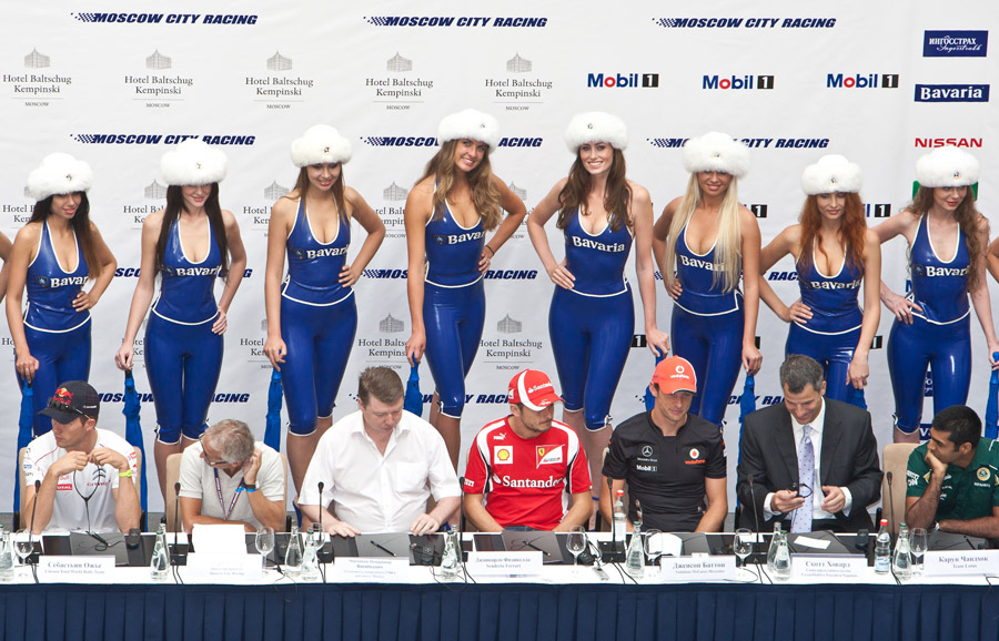 Drivers at the Bavaria Moscow City Racing press conference